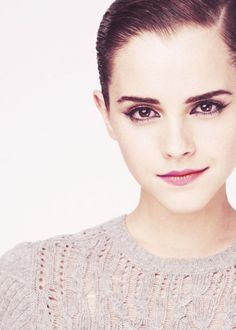 Emma Watson in grey cable