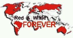 Red and a white world.