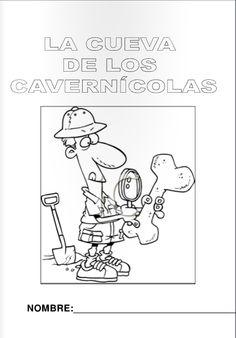 Escuela infantil castillo de Blanca: FICHAS COLOREAR PREHISTORIA