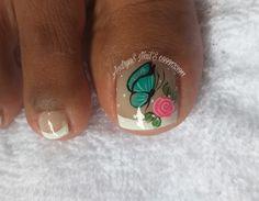 Toe Nail Designs, Manicure And Pedicure, Toe Nails, Nails Inspiration, Lily, Nail Art, Lockers, Toenails Painted, Nail Ideas