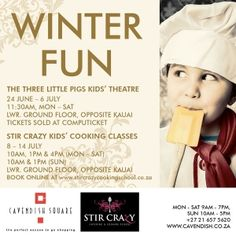 Stir Crazy Kids' Cooking Classes, Holiday Programme on 08-