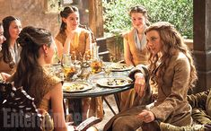 Margaery Tyrell (Natalie Dormer, far right) in King's Landing