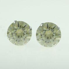 4mm Round Cut Morganite 10k White Gold Solitaire Stud Earrings | eBay