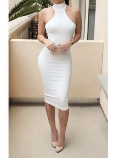 White Mock Neck Mini Dress White Choker, High Street Brands, Neck Choker, Going Out Outfits, Trendy Clothes For Women, Business Outfits, Clubwear, Sexy Dresses, Fashion Outfits