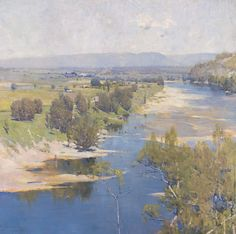 """The purple moon's transparent might.""  Possibly the most breathtakingly beautiful of all Arthur Streeton's works."