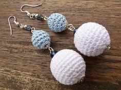Silver Earrings Dangle Earrings Blue Earrings by SandyCraftUK