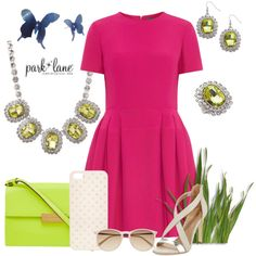 Neon Spring by parklanejewelry on Polyvore featuring Alexander McQueen, BCBGMAXAZRIA, STELLA McCARTNEY, Sian Bostwick Jewellery, Witchery, Pink, neon, springfashion, NeonFashion and parklanejewelry
