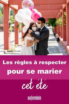 """Depuis le 2 juin, les couples peuvent de nouveau se dire """"oui"""", après deux mois d'interdiction. Dans quelles conditions est-il alors possible de se marier ? On fait le point sur les contraintes sanitaires exigées pour célébrer les mariages. /// #aufeminin #mariage #deconfinement #semarier #organisationmariage #maries #futursmariés #préparatifsmariage Dire, Couples, Inspiration, Indoor Wedding Venues, Civil Ceremony, Religious Ceremony, Most Beautiful Dresses, Beautiful Wedding Dress, Biblical Inspiration"""