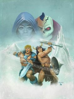 Ice armor he-man and Vikor team up