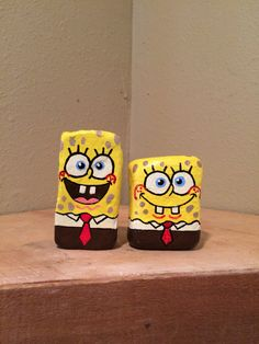 Hey, I found this really awesome Etsy listing at https://www.etsy.com/listing/266217988/sponge-bob-painted-rock-closed-smile-or