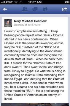 ISIS V. ISIL and OBAMA'S EVIL CODE. OBAMA'S SECRET CODE THAT MEANS HE DOES NOT RECOGNIZE ISRAEL AS A STATE. WAKE UP, ONLY A MUSLIM WOULD DO SUCH A THING!