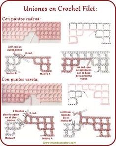 How to knit crochet filet step by step Crochet Stitches Chart, Crochet Symbols, Filet Crochet Charts, Crochet Diagram, Crochet Basics, Crochet Motif, Crochet Designs, Crochet Doilies, Crochet Patterns