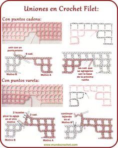 Crochet Filet, Uniones                                                                                                                                                                                 Más
