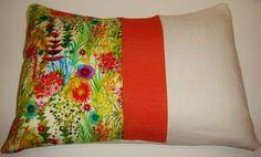 Floral Decorative Designer Fabric  Pillow  Tresco by Pillosophy, $50.00