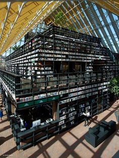 Spijkenisse Book Mountain by MVRD  I want to live here forever!!!!