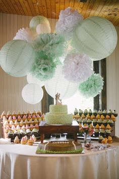 We loved how this wedding displayed our cupcakes!  Clarissa & Chase on Borrowed & Blue.