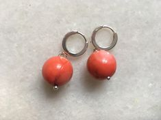 Silver earring with natural coral. Silver Earrings, Stud Earrings, Coral, Jewellery, Store, Natural, Jewels, Stud Earring, Schmuck