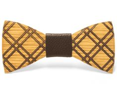 """""""Guy"""" Inlay bow tie - Unique handcrafted wooden bow ties made by Two Guys Bow Ties..."""