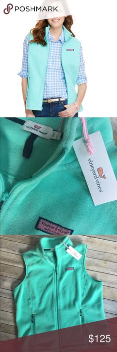 "Size Large Vineyard Vines Westerly Vest Solid Size Large Vineyard Vines Westerly Vest Solid. Color is ""Capri Blue"" & NWT. Product info pictured. ***PRICE IS FIRM, NO TRADES, DO NOT COMMENT anything about pricing, it's rude*** Vineyard Vines Jackets & Coats Vests"