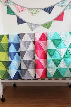 In love with these ombre quilts
