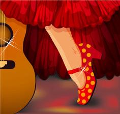flamenco sombras fondo rojo - Buscar con Google