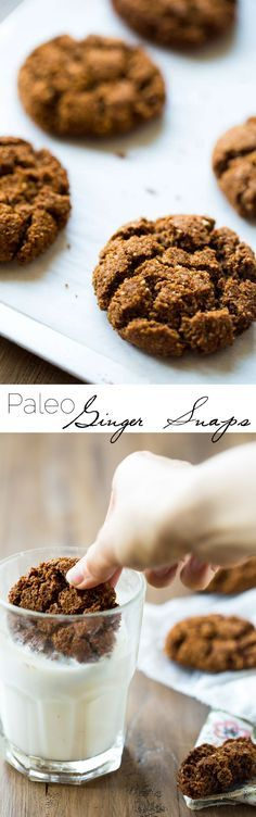 Paleo Gingersnaps - Completely butter free, gluten free and grain free, you will be amazed that these Christmas cookies taste better than Grandmas! Seriously, the best! | Foodfaithfitness.com | @FoodFaithFit