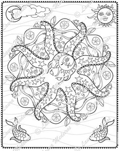 Octopus Mandala Digital Download Coloring Page by zoeowyn on Etsy