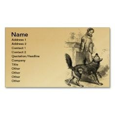 Gray Wolf - Timber Wolf - Red Wolf Series Business Cards printed on a gold colored background.  Other colors available.