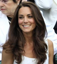 Love her hair! Loose, thick, flowing waves without a hint of frizz... The Duchess Of Cambridge's hair!