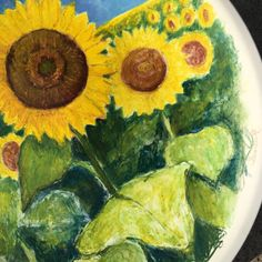 Sunflower Fields Forever 18 hand painted by VibrantInspirations Sunflower Fields, Vibrant, Hand Painted, Unique Jewelry, Handmade Gifts, Painting, Etsy, Inspiration, Vintage