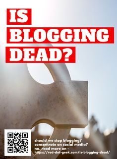 Is blogging dead? This is the age-old question, and the answer is no... Not quite dead, but also not fully alive in a way. If you are looking to start a blog, read this article to find out more. #blogging #bloggingtips