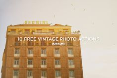 10 Free Vintage Photo Actions (http://theultralinx.com/2013/07/10-amazing-free-vintage-photography-actions-ultralinx.html)
