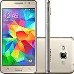 """Smartphone Samsung Galaxy Gran Prime Duos Dual Chip Android 4.4 KitKat Tela 5"""" 8GB 3G Câmera 8MP - Dourado"""