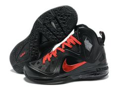 Nike LeBron 9 PS Elite Playoffs Black Red Ruby,Style code: 516958-102