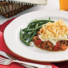 Onion-Topped Sausage 'n' Mashed Potato Casserole Recipes < Dinner Recipes: Make-Ahead Casseroles - Southern Living Mobile