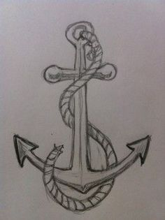 How to draw an anchor tutorial: