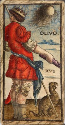 Olivo from Sola Busca tarot deck