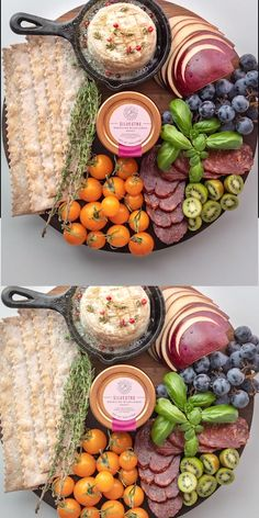 Here's how to make the best cheese board or platter! This charcuterie board is great for a crowd and made with brie cheese, apples, blueberries, crackers, tomatoes, meat, kiwi, and of course our Bee Seasonal Organic Silverstre honey! Easy to make and great for friends and family during the holidays. #beeseasonal #beeseasonalhoney #cheeseboard #charcuterie #cheeseplatter