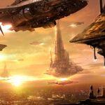 concept ships: Concept art by Edvige Faini Spaceship Art, Spaceship Concept, Concept Ships, Concept Art, Futuristic Art, Futuristic Architecture, Star Wars Fan Art, Science Fiction Art, Fantasy Landscape