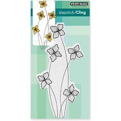 Penny Black Cling Stamp FLOWERETS 40-468