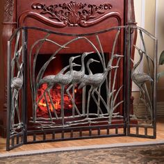Crane Fireplace Screen