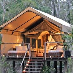 My idea of camping... it looks so cozy.  I could spend the summer in a place like this:)