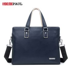 ZOROPAUL 2017 Men's Fashion Handbags European and American Style Tote Business Shoulder Top Handle OL Casual Men Briefcase Bag