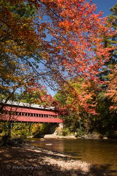 New England Fall Foliage | Swift River Covered Bridge - Exploring New England's fall foliage
