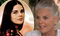 Ali MacGraw, 75, opens up to Oprah about letting her hair go gray. She's beautiful either way, but honestly is glowing and younger looking now than in her 50s with dyed dark hair