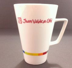 Juan Valdez Cafe coffee cup mug 10 oz white #rainbow #Colombian tea coffeehouse #JuanValdez