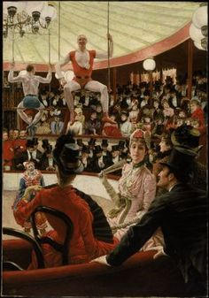 James Tissot - The Circus Lover (from Women of Paris series)