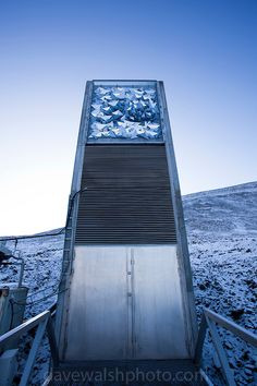 Global Seed Vault in Svalbard, Norway / Peter W. Søderman Svalbard Norway, Longyearbyen, Norway Viking, Glass Structure, Sea Level Rise, Seed Bank, Vaulting, Beautiful Buildings, Archipelago