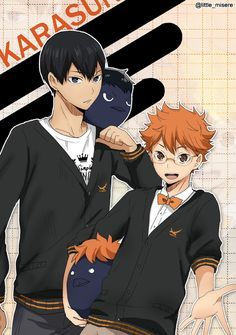 The odd Duo (and hinata with glasses)