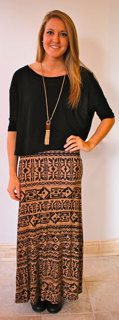 Bring your maxi skirts into Fall!